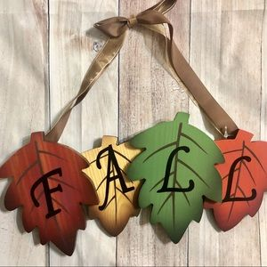 🍁FALL🍁 Leaf Hanging Sign